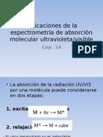 Aplicaciones de La Espectrometrc3ada de Absorcic3b3n Molecular Uv Vis(1)