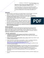 Guidelines & Checklist for Case Analysis Papers (3!17!15)(1)