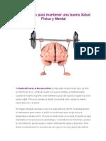 25 Consejos Para Mantener Una Buena Salud Física y Mental