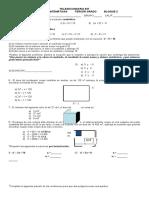 Examen de Matematicas II