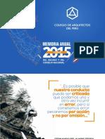 Memoria Anual 2015 & Informes Financieros - CAP Consejo Nacional