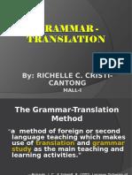 Richelle- Grammar Translation Method