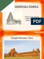 History of Famous Brihadeeswarar Temple in Thanjavur