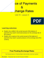 unit 15 - lesson 3 - balance of payments    exchange rates  1