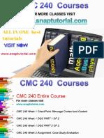 CMC 240 Proactive Tutors/snaptutorial