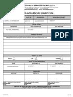 HRA 003 - Travel Authorisation Request Form Oct