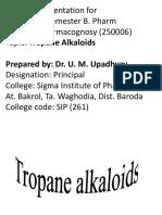 2. b Tropane Alkaloids