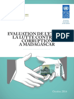 Evaluation de l'état de  la lutte contre la corruption  à Madagascar