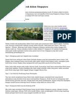 Tips Cari Hotel Murah dalam Singapura