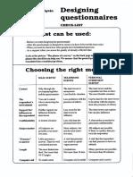 Checklist Designing Questionnaires