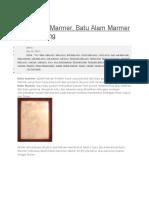 Profil Batu Marmer, Batu Alam Marmer Tulungagung
