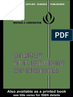 Energy Application of Biomass Michael Z.lowenstein
