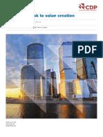 CDP Global Water Report 2014
