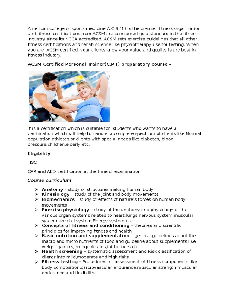 Courses And Workshops Personal Trainer Physical Fitness