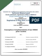 Conception et implémentation d'une GMAO  pour l'aciérie