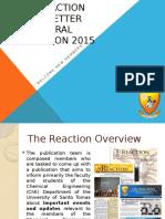 The Reaction Orientation Primer