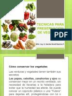 Tecnicas Para Preservacion de Vegetales