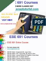 ESE 691 Academic Success/snaptutorial