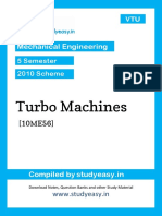 Me 5th Sem Turbo Machines [10me56]Unit 1,2,3,4,5,6