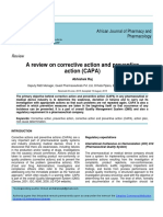 A Review on Corrective Action And Preventive Action (CAPA)