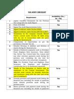 Tax Audit Checklist