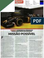 """A NOVA APOSTA DA RENAULT NA F1 NO """"AUTOSPORT"""""""