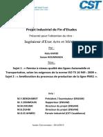 Amélioration du processus de production de la ligne PMS1