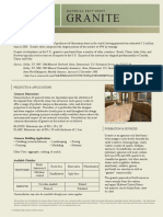 Granite Material Fact Sheet