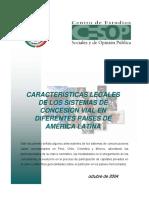 Características Legales de Los Sistemas de Concesión