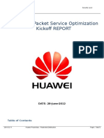 3G Cluster Packet Service Optimization Report
