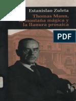 Estanislao Thomas Mann La Montana Magica y La Llanura Prosaica