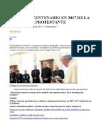 Ante El 5º Centenario en 2017 de La Reforma Protestante