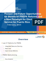 CES - Present and Future Opportunities for Beneficial PREPA Reform