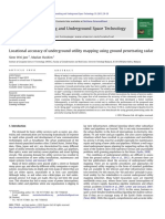 Locational Accuracy of Underground Utility Mapping Using Ground Penetrating Radar (1)