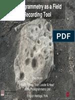 ERA PG1 Photogrammetry Field Work