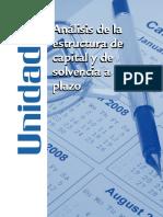 Análisis de La Estructura de Capital y de Solvencia