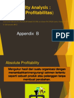 Appendix B  Profitability Analysis