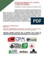ACTO en defensa del medioambiente y del patrimonio cultural y e histórico de la Guerra Civil Española