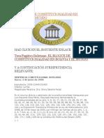 El Bloque de Constitucionalidad en Bolivia y El Mundo