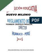 Reglamento Interno Nuevo Milenio2015