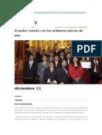 Los Primeros Jueces de Paz en Ecuador