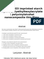 Journal of Nano CaCO3 reinforced bioplastic