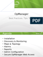 Opmanager Best Practices, Tips, Tricks