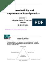 Experimental Aeroelasticity  Liege