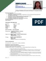 melba himmoldang resume
