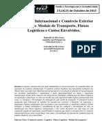 Artigo Logística Internacional e Comércio Exterior