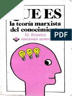 y Que Es La Teoria Marxista Del Conocimiento