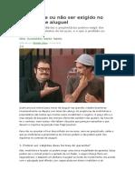 LOCAÇÃO-O que pode ou não ser exigido no contrato de aluguel.doc