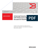 Achieving Enterprise SAN Performance With the Brocade DCX Backbone