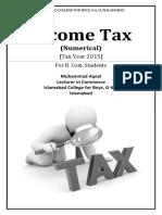 Income Tax Numerical 2015